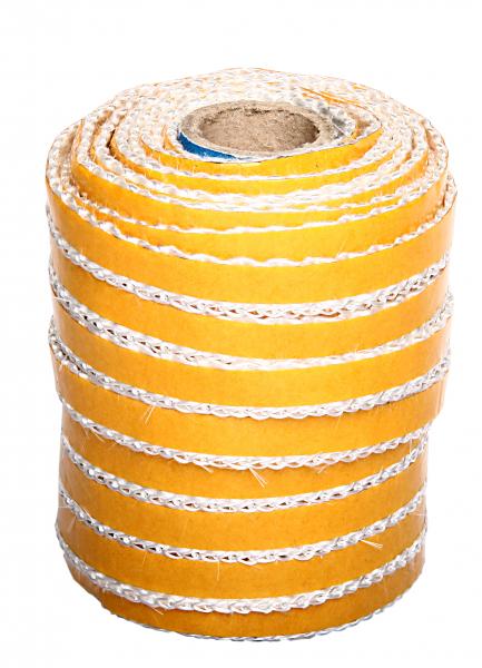 Flachdichtung 8x2 mm weiß Kaminglasdichtung selbstklebend
